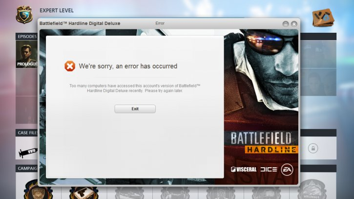 battlefield hardline activation limit